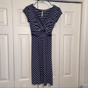 Gilli striped knit dress